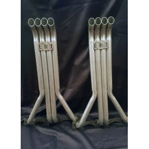 V8 4 in a row Headers 1 1/2 inch Primary Pipes with Turnouts